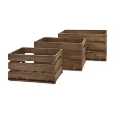 3 Piece Ainsley Wood Crate Set