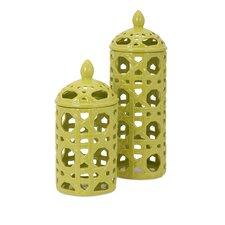 Lattice Ceramic Decorative Jar