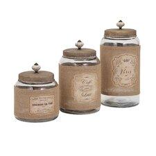 Carley 3-Piece Lidded Glass Jar Set
