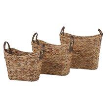 Niko 3 Piece Natural Weave Basket Set