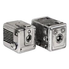 2 Piece Vintage Camera Storage Box Set