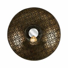Cocobolo Wrought Iron Mirrored Wall Sconce