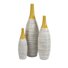 Andean Multi 3 Piece Glazed Vase Set