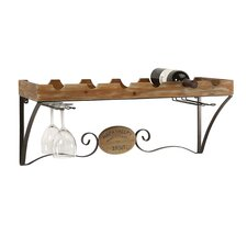 Napa Valley Wine Shelf 6 Bottle Wall Mount Wine Rack