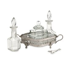 Baker Brass and Glass Table Set (Set of 7)