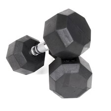 40 lbs  Rubber Encased Octagonal Dumbbells (Set of 2)