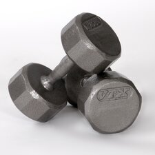 12-Sided Cast Dumbbell (Set of 2)