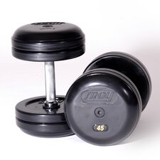 Pro-Style Rubber Dumbbells (Set of 2)