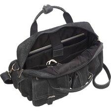 Leather Laptop Double Pocket Briefcase