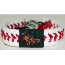 MLB Leather Wrist Bands - Classic Band - Baltimore Orioles