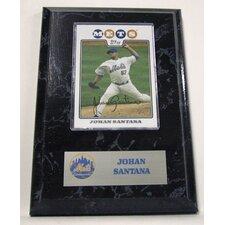 Sports Images Card Plaque MLB Johan Santana Card - New York Mets Memorabilia Plaque