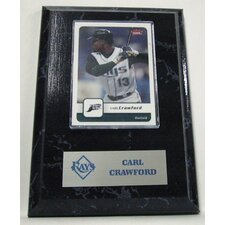 Sports Images Card Plaque MLB Carl Crawford Card - Tampa Bay Rays Memorabilia Plaque