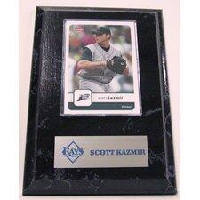 Sports Images Card Plaque MLB Scott Kazmir Card - Tampa Bay Rays Memorabilia Plaque