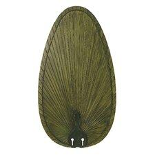 Narrow Oval Palm Leaf Outdoor Ceiling Fan Blade (Set of 5)
