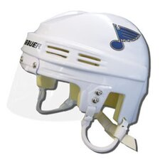 Official NHL Licensed Mini Player Helmets - St Louis Blues (White)