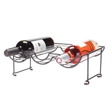 6 Bottle Tabletop Halfpipe Wine Rack (Set of 2)