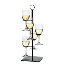 Amelia Flight Server 5 Bottle Tabletop Wine Rack