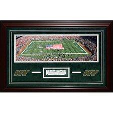 New York Jets Meadowlands Panoramic Turf Collage Framed Memorabilia