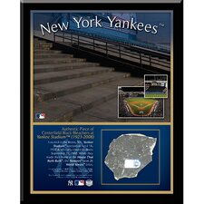 New York Yankees Stadium Center Field Black Rubble Memorabilia Plaque