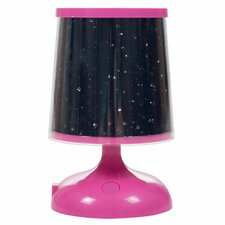 "Northwest Sky Constellation Star Projector 6"" H Table Lamp with Empire Shade"