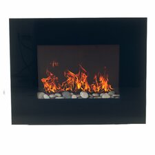 Glass Wall Mount Electric Fireplace