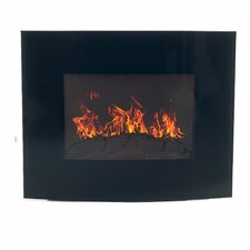 Curved Glass Wall Mount Electric Fireplace