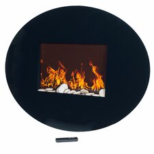 Oval Glass Electric Fireplace