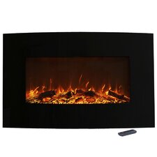 Curved Wall Mounted Electric Fireplace