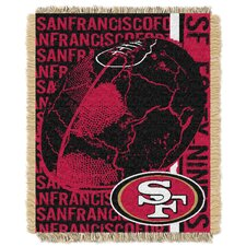 NFL San Francisco 49ers Triple Woven Jacquard Throw Blanket