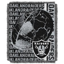 NFL Oakland Raiders Triple Woven Jacquard Throw Blanket