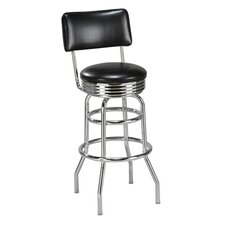 Double Ring Retro Swivel Bar Stool