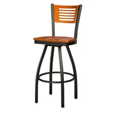 Slot Back Swivel Bar Stool