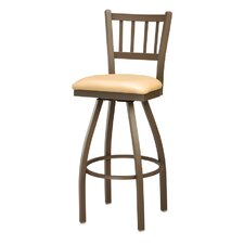 Jailhouse Back Swivel Bar Stool