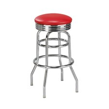 "New Retro Express 30"" Swivel Bar Stool with Cushion"