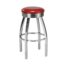 Backless Retro Swivel Bar Stool