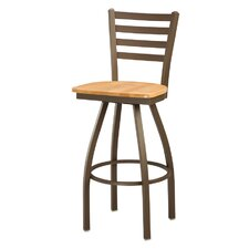 Ladder Back Swivel Bar Stool