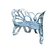 Butterfly Aluminum Garden Bench