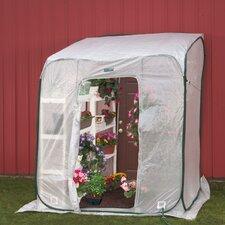 Hothouse 6 Ft. W x 6 Ft. D Polyethylene Lean-To Greenhouse