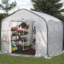 Farmhouse 9 Ft. W x 9 Ft. D Polyethylene Commercial Greenhouse