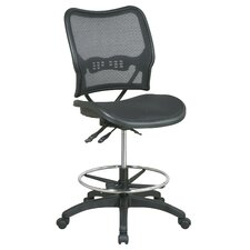 Adjustable Mid-Back Office Chair with Footring