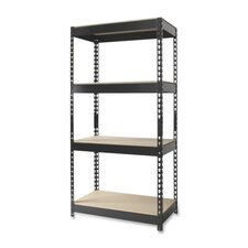 "Horse Riveted 60"" H 4 Shelf Shelving Unit"