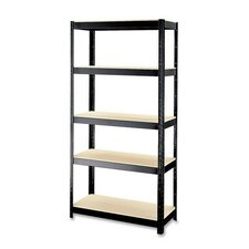 "Rust-resistant 72"" H 5 shelf Shelving Unit"