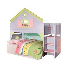 Dollhouse Staircase Twin Loft Bed