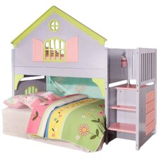 Dollhouse Twin Convertible Toddler Customizable Bedroom Set