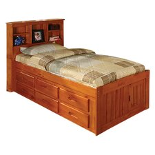 Weston Captain's Bookcase Bed with Storage