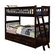 Twin Over Twin Slat Customizable Bedroom Set