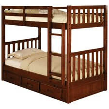 Weston Twin over Twin Bunk Bed with Built-In Ladder