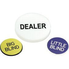 Poker Game Buttons (Set of 2)