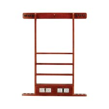 6 Pool Cue Wall Rack with Score Counter