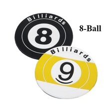 Novelty Items Eight Ball Coaster (Set of 3)